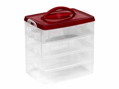 "Snapware Snap N Stack® Red Storage 6"" x 9""-4 Layers"