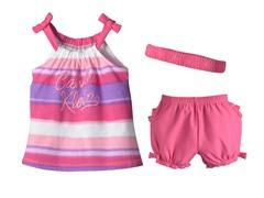 Pink Stripe 3-Pc Short Set (12-24M)