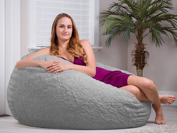 Stupendous Cordaroys Faux Fur Bean Bag Chair Full Inzonedesignstudio Interior Chair Design Inzonedesignstudiocom