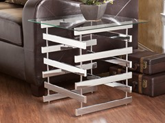 Hoxley Chrome & Glass End Table