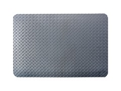 3' Indoor Diamond Mat, Solid Gray