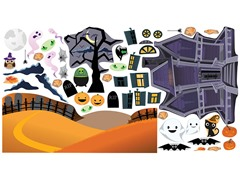 Mona MELisa Designs Peel & Play Haunted House