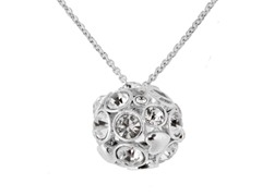 Relic RJ1287040 Silver Charm Necklace with Crystals