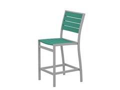 Euro Counter Chair, Silver/Aruba