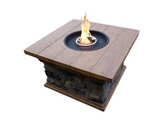 Firepit Table with Wood Finish Top