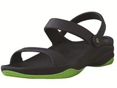 Youth 3-Strap Sandal Navy / Lime Green