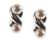 SS & Freshwater Pearl Figure-8, Pink