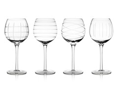 Medallion White Wine Goblets - S/4