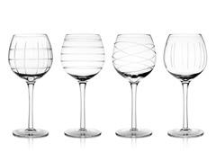 Medallion White Wine Goblets - S/4