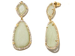 18kt Plated Dyed Jade Earrings