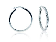 "SS Simulated Diamond 1.2"" Eternity Round Hoop"