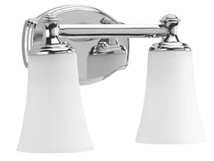 2-Light Bath Fixture, Polished Chrome