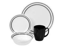 Livingware Classic Café Black 16pc Set
