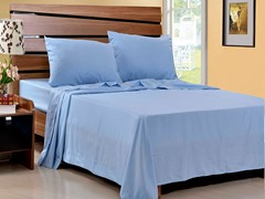 Microfiber Sheet Set-Set of 2-Light Blue-King