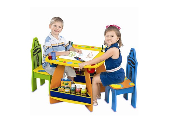 Best Crayola Toys For Kids : Crayola wooden table chair set kids toys