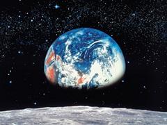 Earth Moon Wall Mural