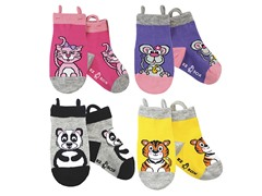 4-pk Socks - Kitty & Friends (S-L)