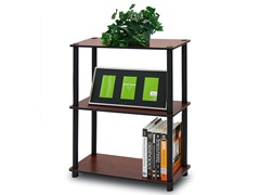3-Tier Tube Storage Shelf Black