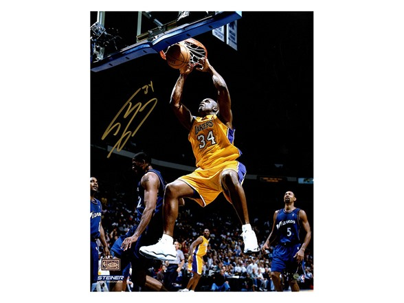 Shaquille O'Neal LA Lakers Jersey Dunk 16x20 Photo WT139945A