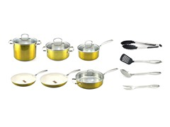 Kevin Dundon 14 Piece Cookware Set Gold