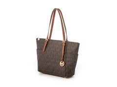 Michael Kors Jet Set Signature E/W Tote, Brown
