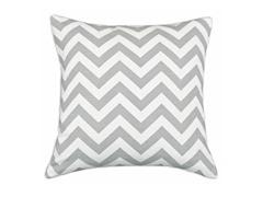 Zig Zag Ash 17x17 Pillow
