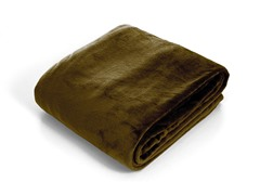 Lavish Home  Super Soft Flannel Blanket- Brown