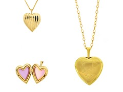 10kt Gold Reversible Heart 'I Love You' Locket