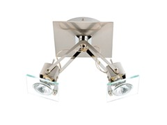 2-Light Satin Ceiling Mount- Clear