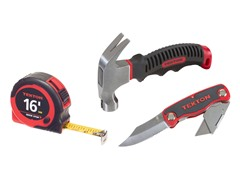 Utility Knife, Hammer, Tape Measure Set