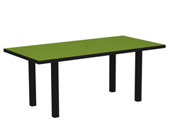 Euro Dining Table, Black/Lime