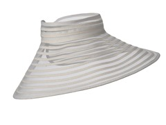 Meridian Ave Roll Up Visor, White