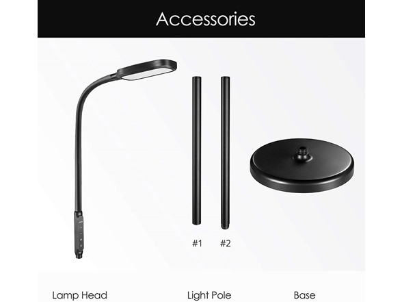 Miroco Led Adjustable Floor Lamp