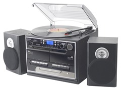 Retro Vintage Bluetooth Turntable w/ Speaker System