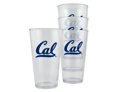 Cal-Berkeley Plastic Pint Glasses 4-Pk