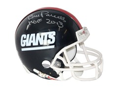 Bill Parcells Signed Giants Mini Helmet