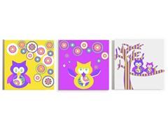 Owls Canvas (Set of 3)