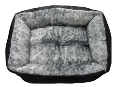 Extra Plush, Faux Leather & Fur Bed - 2 Sizes