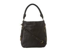 KC Square Biz Leather Hobo Bag,  Black