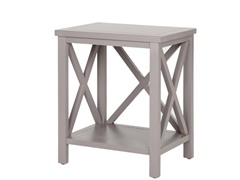 Candence Cross Back End Table Grey
