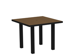 Euro Dining Table, Black/Teak