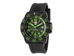 Men's Black & Green w/ Silicone Band