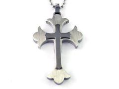 SS Fancy Layered Cross Pendant