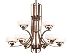 9-Light Chandelier, Bronze