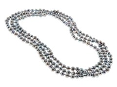 Gray Fresh Water Pearl Necklace, 64""