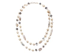 SS Freshwater Pearl & Crystals Necklace