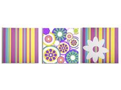 Stripes & Dots Canvas (Set of 3)