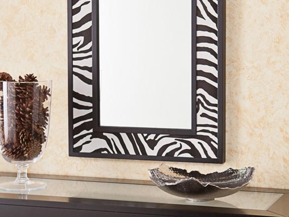 Animal Print Decorative Mirror Zebra