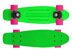 Mayhem Neon Green Deck with Pink wheels