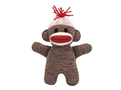 "6.5"" Sock Monkey Baby Doll"